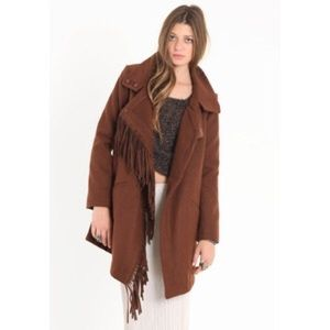 BB dakota fringe trench coat